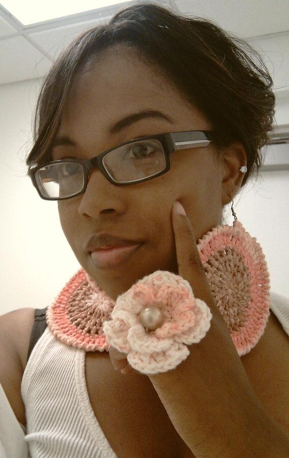 crochet earrings and ring!!!