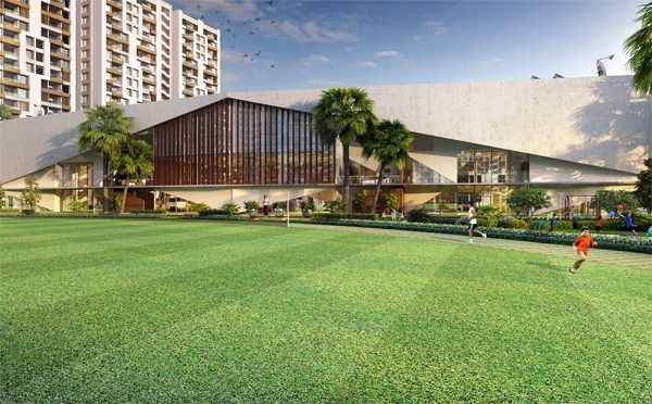 Swayam City's Grand Arena is spread across 5.5 acres and hosts numerous sporting facilities with a view of the playing fields and game courts. #Kolkata #SwayamCity