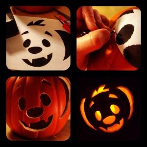 Kooky spooky pumpkin carving stencils