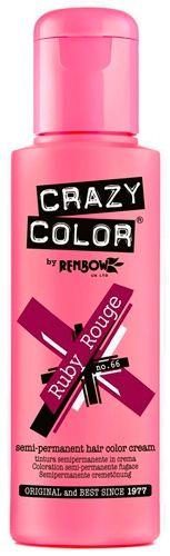 Coloration CRAZY COLOR - Ruby Rouge - Teinture Rose Violette Cheveux Semi Permanente Pour une Coiffure Rock Punk Gothique Emo rockagogo.com
