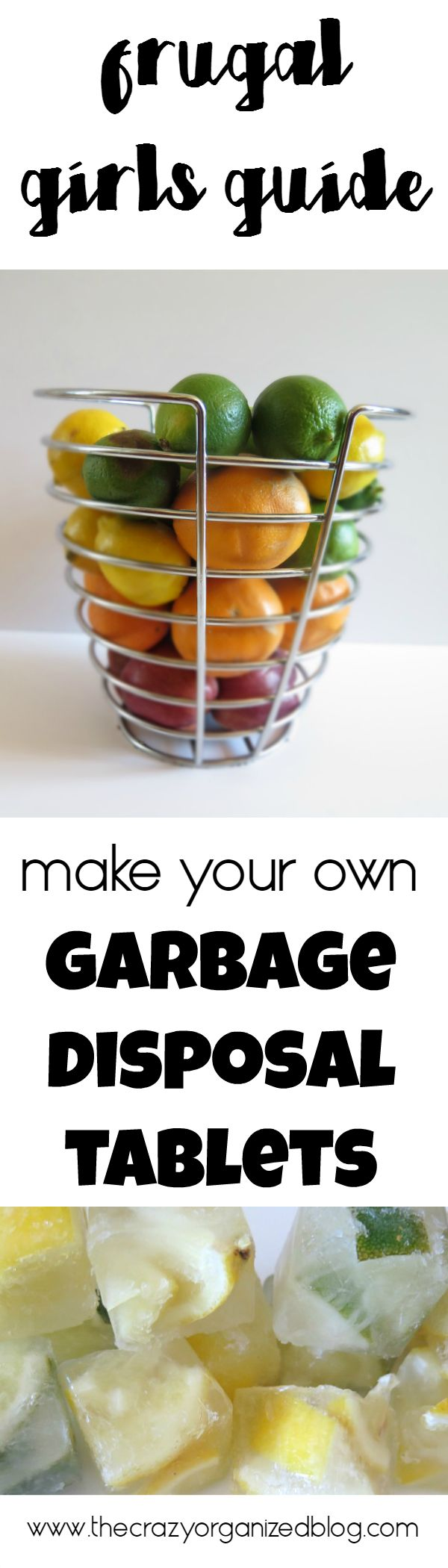 Save money and make your own garbage disposal tablets! all you need is TWO ingredients from your kitchen!