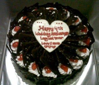 Kue Ulang Tahun Bandung: Kue Ulang Tahun Pernikahan Blackforest