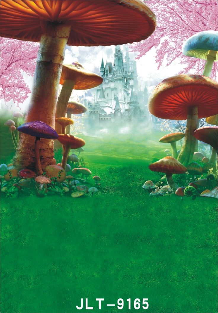 19.88$  Watch here - http://ali8w2.shopchina.info/go.php?t=32752583981 - 150x210cm castle backdrop  Mushroom image background Children photography background fond studio photo vinyle 200x300cm  #aliexpresschina