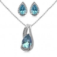 Celebrate her December birthday with the Sterling Silver Pear Blue Topaz Pendant Necklace and Earrings Diamond Box Set. Resting from an 18-inch cable chain is a bold pear-shaped blue topaz stone. The ...: Cable Chains, Blue Topaz, Pendants Necklaces, 18 Inch Cable, Boxes Sets, Topaz Pendants, December Birthday, Pears Shap Blue, Bold Pears Shap