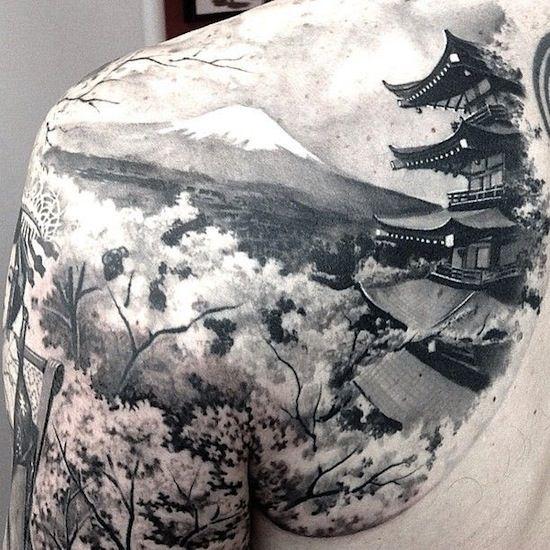 shoulder tattoo by Matteo Pasqualin, Porto Viro, Italy   buddhist tattoos