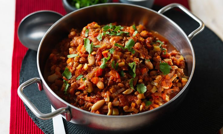 Cheap and easy to make, this versatile dish can be served with rice or baked sweet potatoes, wrapped with a salad, or made into enchiladas, tacos or nachos.