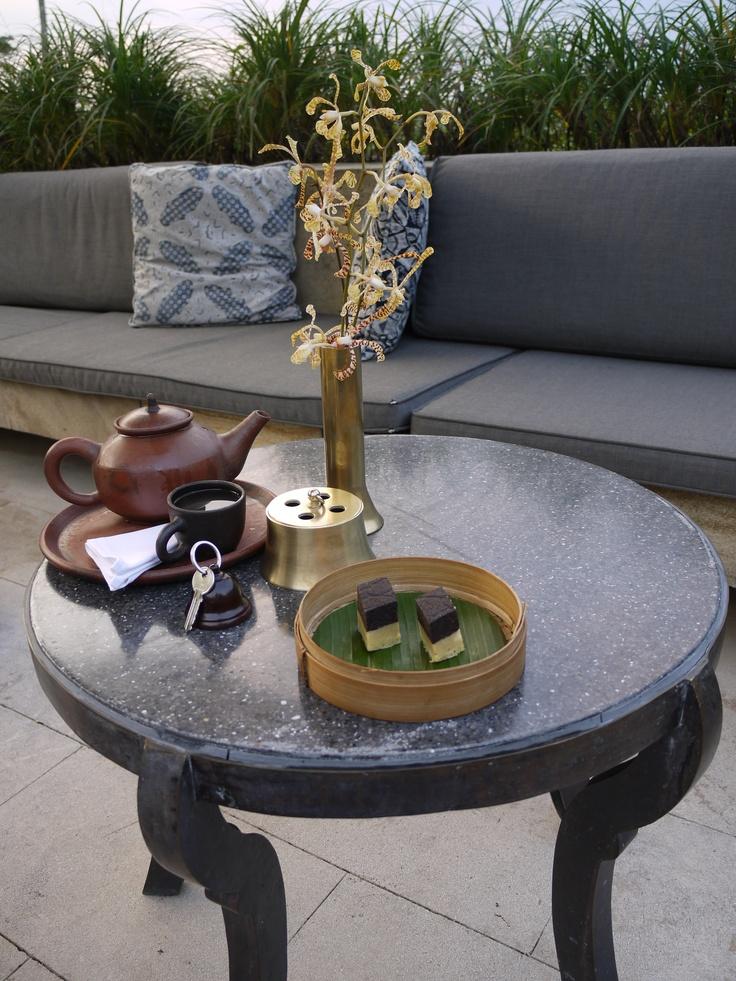Tea at Amanjiwo Borobudur Indonesia