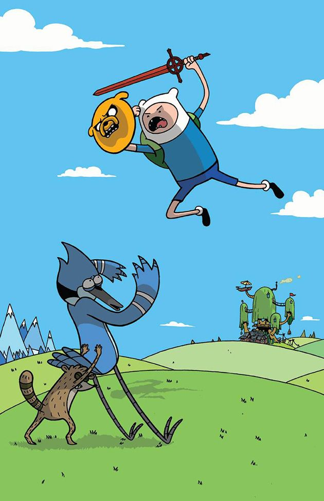 Adventure Time vs. Regular Show by Vernon Smith - pretty much sums up which is the better show