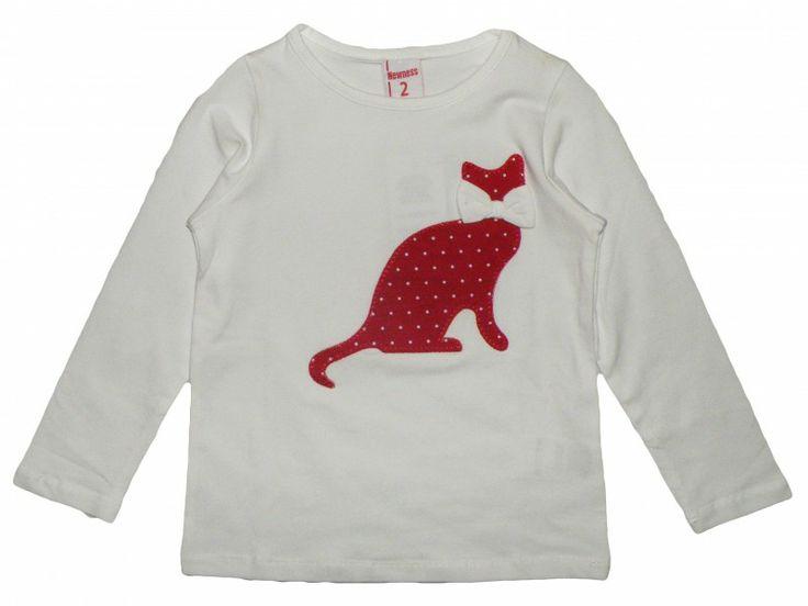 Camiseta Gato Blanca (3 a 7 años) - Regalizzes.com