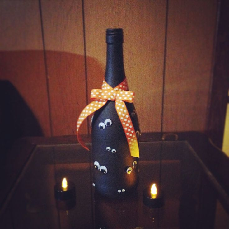 halloween halloweenwinebottle winebottlecrafts spookyeyes Wine Bottle