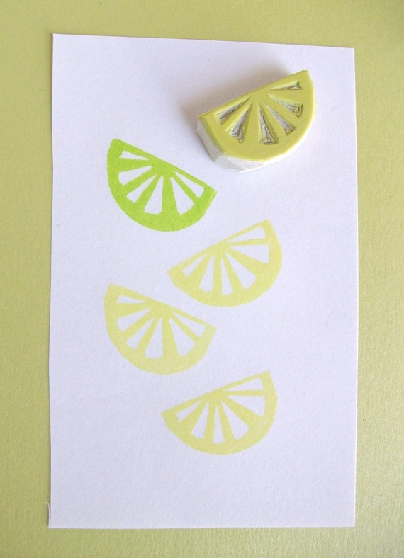 On my 'to make' list: citrus piece stamp