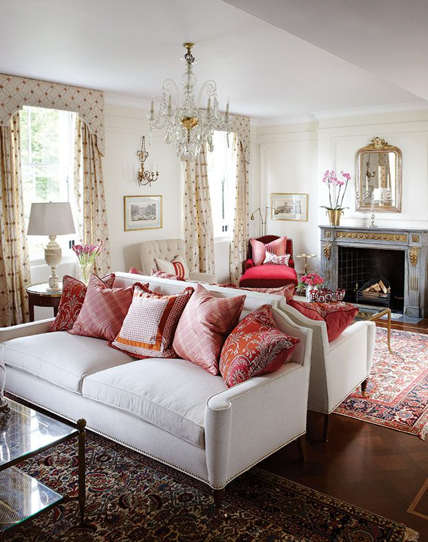 See beautiful living rooms that are both formal and relaxed. Get ideas for your own space as you prepare to entertain guests this season.