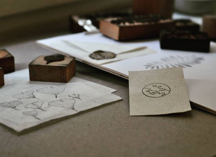 "Handmade wood stamps  ""With love""  #chetres"