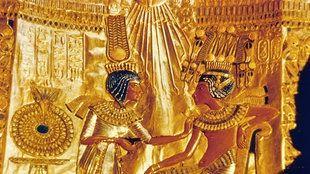 Ein ägyptisches Paar: Tutanchamun mit seiner Frau Anchesenamun