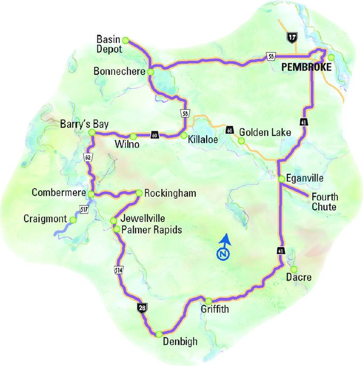 """""""A Trail of Two Rivers"""" Driving Route. Explore the watershed of the Bonnechere and Madawaska Rivers by travelling 'round the Bonnechere Valley and up into the Madawaska Highlands."""