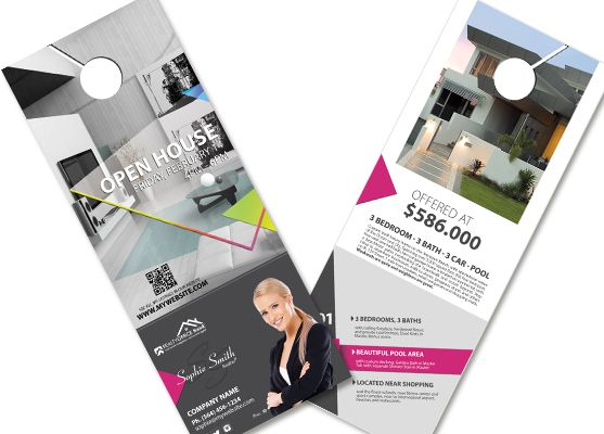 real estate door hangers creative real estate door hanger template modern door hangers
