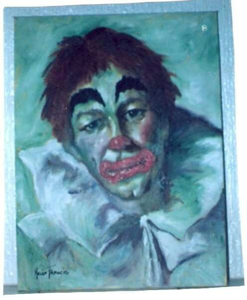 Sad Clown - Oil on Canvas