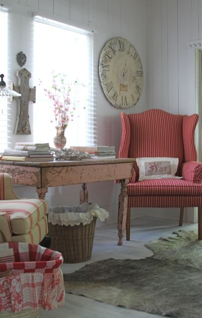 beautiful country french sitting area