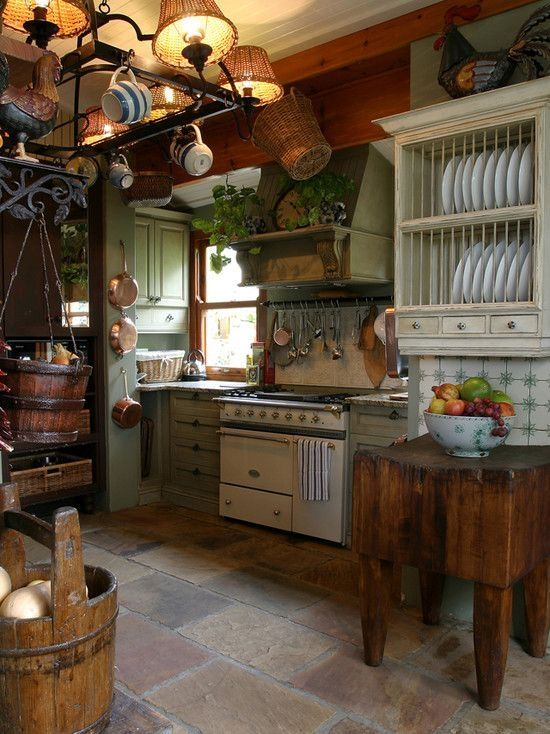 Rustic Cottage Kitchen Ideas Part - 35: Shabby Chic Cottage Kitchen By Lovey2