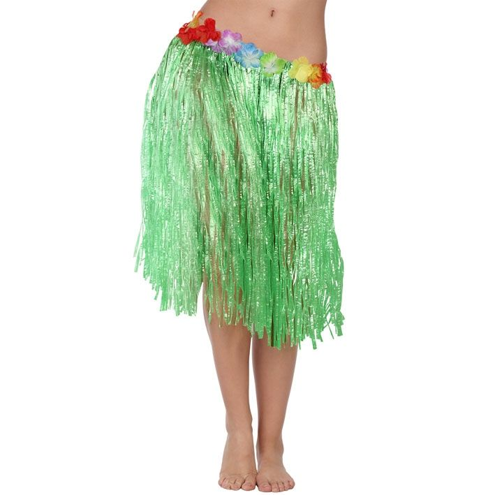 Falda Hawaiana Verde 41 cm - Comprar Online {Miles de Fiestas}