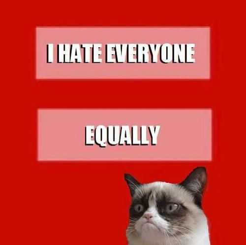 Grumpy doesn't discriminate
