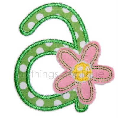 Spring Flower AlphaSpring Flowers, Flower Appliques, Flower Alphabet, 09 Appliques, Intersting Birthday, Appliques Alphabet, Birthday Numbers, Wall Ideas