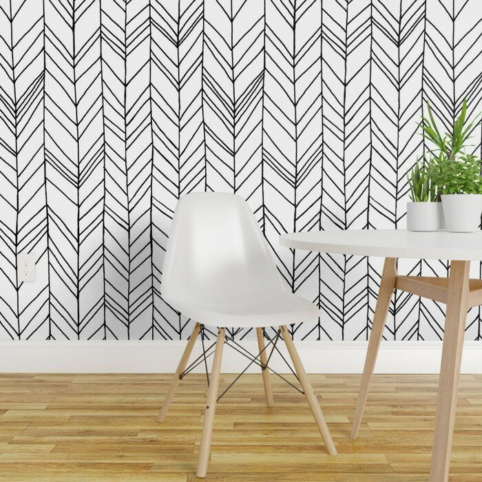 Ivy Bronx Whittaker Removable Peel And Stick Wallpaper Panel Wayfair Peel And Stick Wallpaper Wallpaper Panels Chevron Wallpaper