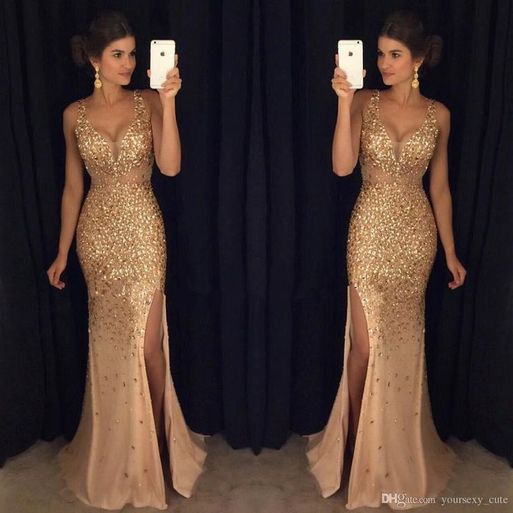 Details about Sexy Crystal Long Formal Evening Dress Mermaid Celebrity  Pageant Party Prom Gown. Vestido de Noche