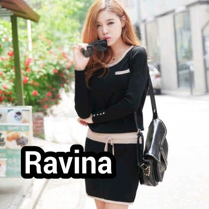 Mini Dress Korea berbahan rajut halus. Cocok untuk dipakai ke kantor maupun acara santai sehari-hari.