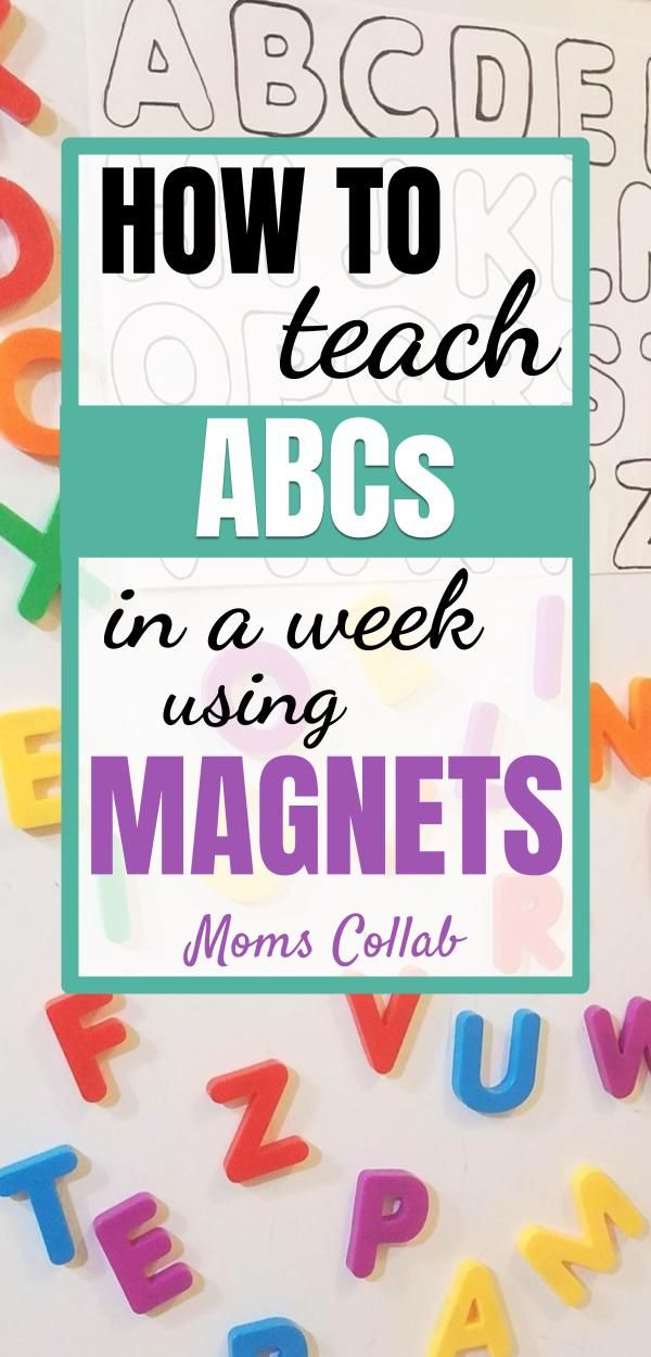 How to Teach ABCs in a Week using Letter Magnets