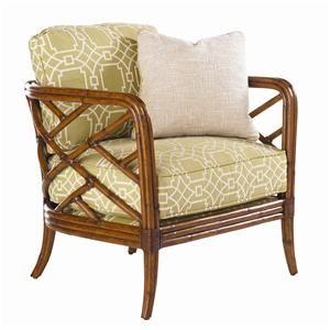 Tommy Bahama Home Island Estate Loose Back Lattice Palm Lounge Chair - Baer's Furniture - Exposed Wood Chair Boca Raton, Naples, Sarasota, Ft. Myers, Miami, Ft. Lauderdale, Palm Beach, Melbourne, Orlando, Florida