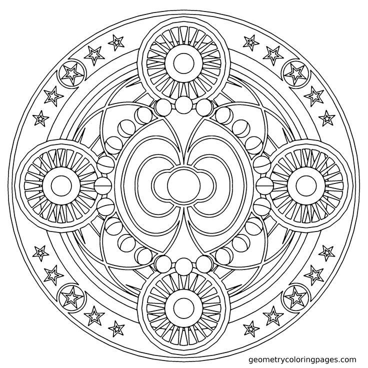Expert Mandala Coloring Pages