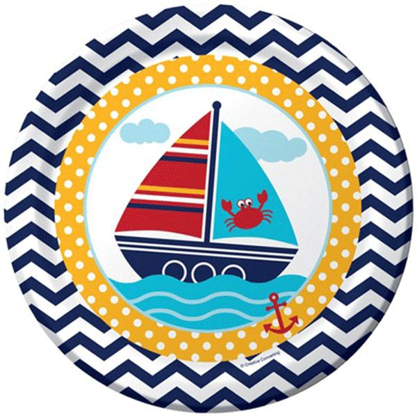 Ahoy Matey! Paper Lunch Plate 9in 8ct