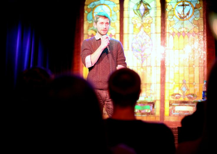 Christian Springer delivers a stand-up routine on Tuesdayat Iowa State University's Memorial Union. Springer had to deliver a 5- to 7-minute routine for his final exam in a new comedy course being offered through ISU's honors program. Photo by Jessie Bonner/Ames Tribune