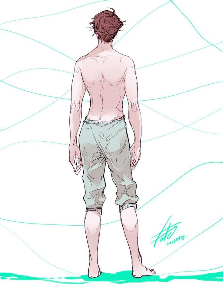 Oikawa Tooru.... Look at those back muscles -//////-