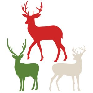Daily FREEBIE- Reindeer Silhouettes - Today only, Nov 12