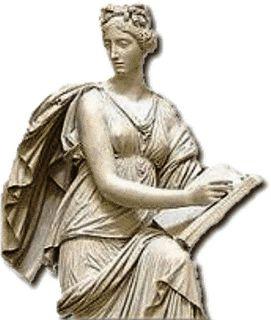 Clio é a musa da história e da criatividade, aquela que divulga e celebra as realizações. Preside a eloquência, sendo a fiadora das relações políticas entre homens e nações.
