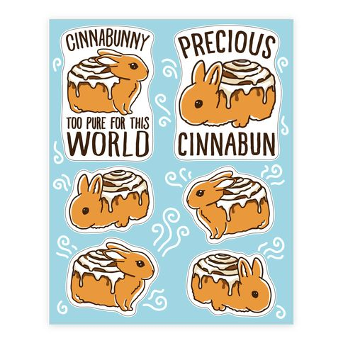 Cinnabunny sheet both bunnies and cinnamon buns are so precious to this world show