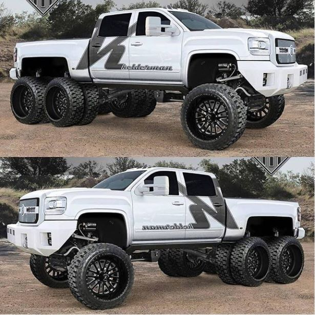 GMC Sierra Crew Cab Tandem Axle Pickup (With images ...