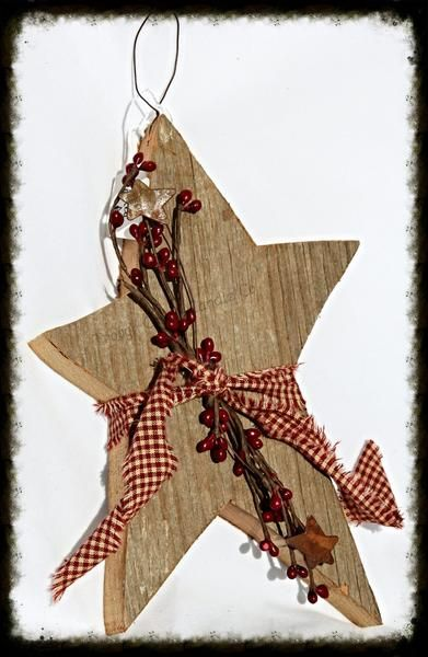 These adorable barnwood stars are a perfect addition to your primitive home decor