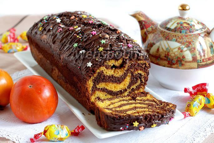 Фото Кекс шоколадный с тыквой