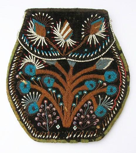 Iroquois Floral Bag - 19th Century