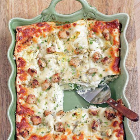 Artichoke Chicken Lasagna
