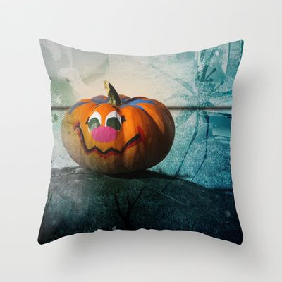 Happy Halloween  Throw Pillow by Katherine Song  - $20.00