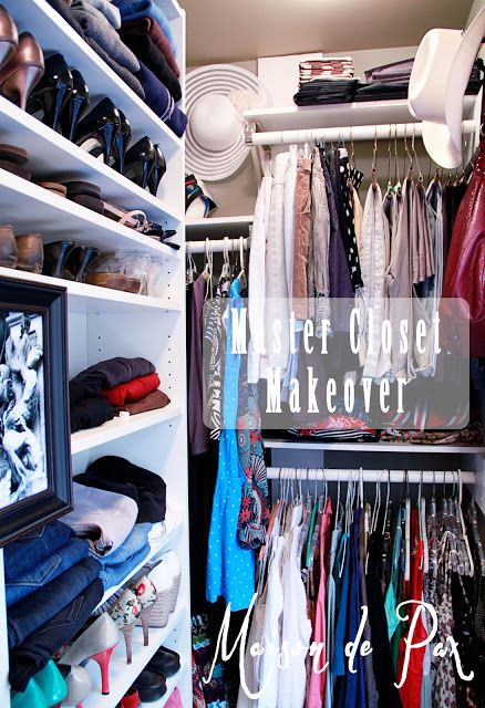 Closet Idea- Like the offset shelves and tri-level bars...