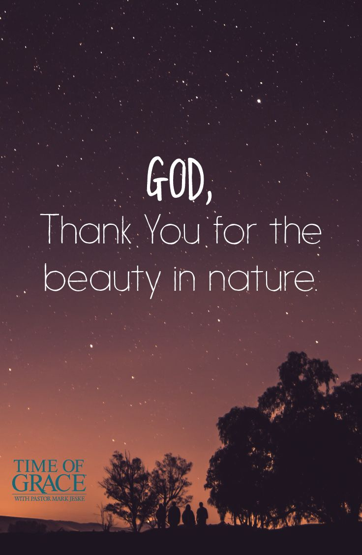 nature the gift of god