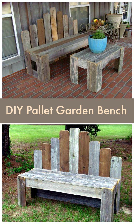 Pallet Garden Bench Pallet Furniture Ideas