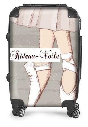 Réf: 1234 - Valise à roulette Chausson de danse Ballerine Opéra - 250€ #valise#roulette#chausson#danse#ballerine#ballerina#opéra#repetto#danseur#danseuse#imprimé#motif#suitcase#dancer#shoe#paris#lac#cygne#tutu#idée#cadeau#