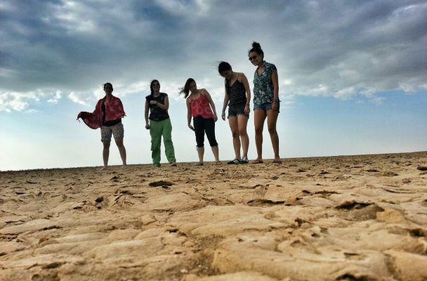 La tierra que se abre en el desierto de la Guajira, Colombia