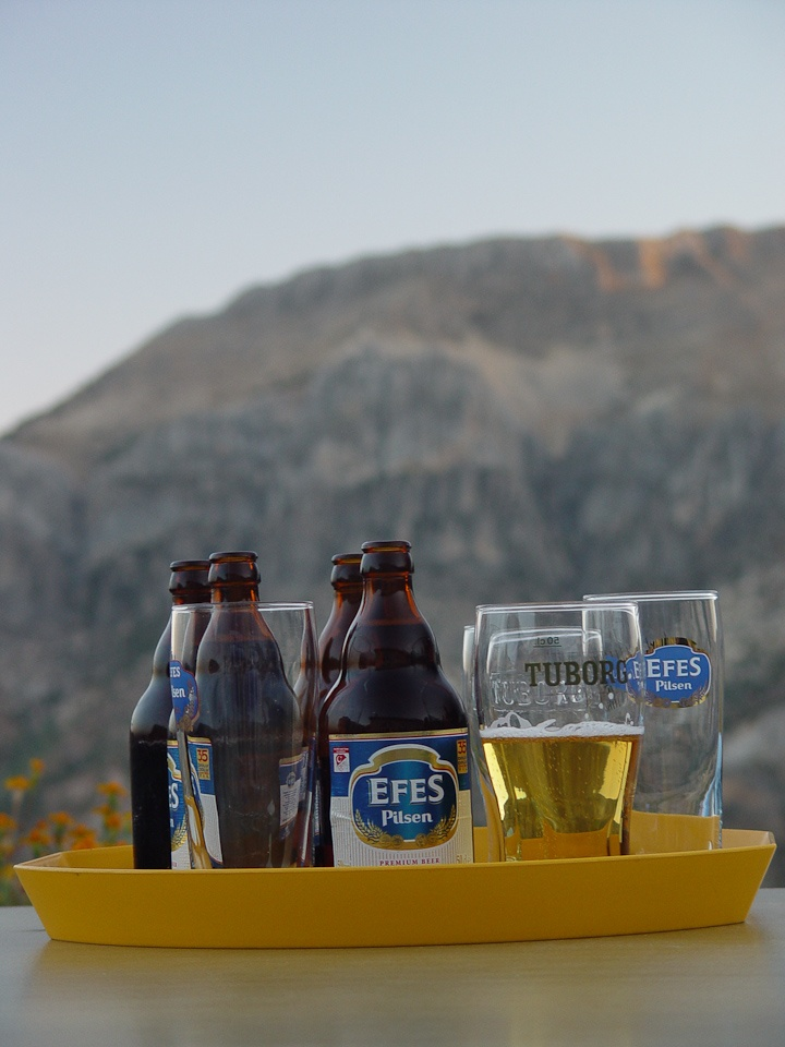 Time to put our feet up with an #Efes beer at the end of a great day in #Turkey